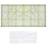 OFNMY Patchwork Lineal 30x15cm Transparentes Universal Lineal
