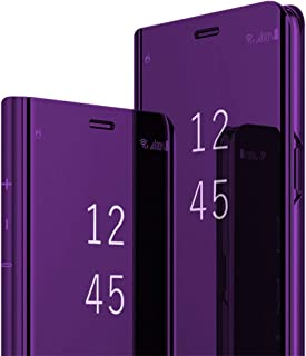 Zater Case Compatible with Galaxy Note 8,Mirror Clear View 360 Full Protection Kickstand Note 8 Case (Samsung Galaxy Note 9, 3) Purple