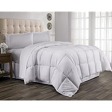 Hanna Kay Luxurious Queen Comforter Down Duvet Cover | Moisture Wicking, Fluffy, Soft, Hypoallergenic, Washable & Lightweight Blanket| Enhance Your Sleep Quality, Feel Comfy, Wake Up