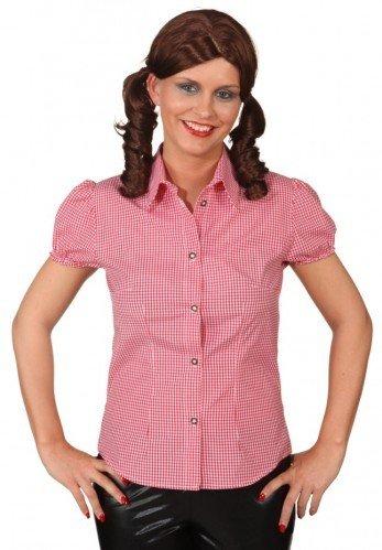 Camisa de cuadros rojos y blancos mujer - M: Amazon.es ...
