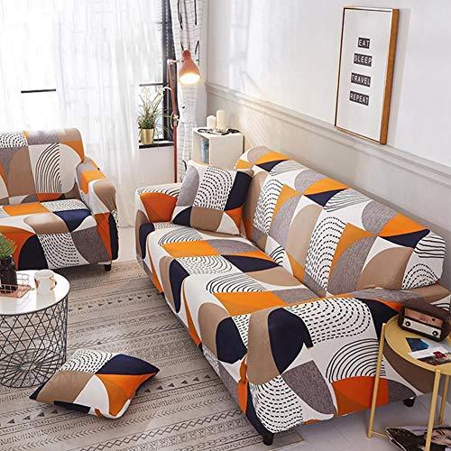INGHU Schonbezug Sofahusse, Stretch-Stoff, Couch-Bezug, Sofa-Möbelschutz, kompletter Bezug maschinenwaschbar - 3-Sitzer - Muster 2