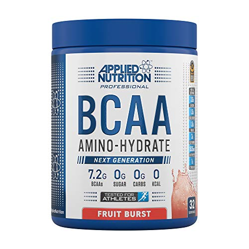 Applied Nutrition BCAA Powder Branched Chain Amino Acids Supplement with Vitamin B6, Replenish Electrolytes, Amino Hydrate Intra Workout and Recovery Powdered Energy Drink 450g (Fruit Burst)