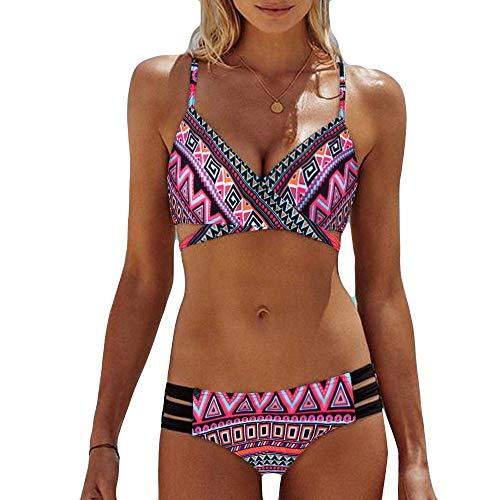 TOFOTL pink Wanne Bikinis sexy Slip Oberteil String Bikini Wanne 75d Shaping Push up Einlagen für günstig sexy Damen 90s Teenager highwaisttriangel 85g Bikini BH 90h schwarz Push up