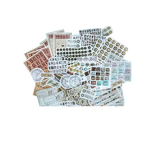 CAOLATOR 60 Blatt Mädchen Sticker Aufkleber Kinder Deko Papier Stickerbögen Vintage für Stickerbuch Tagebuch Fotoalbum Notizbuch Kalender Dekoration Scrapbooking,(#1)
