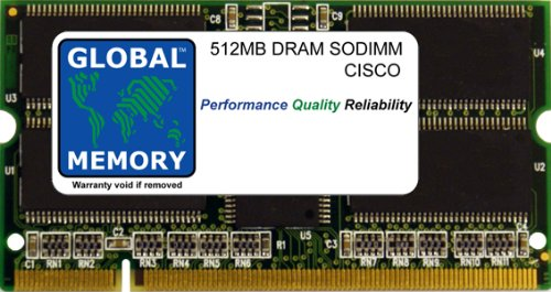 512MB DRAM SODIMM MEMORY RAM FOR CISCO CATALYST 6500 SERIES SWITCHES & 7600 SERIES ROUTERS FlexWAN MODULE (MEM-CC-WAN-512M)