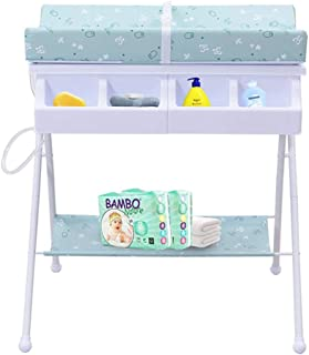 Portable Changing Mats Baby Changing Table Multifunctional Baby Bath Table Foldable Portable Bathtub Care Table (Color : Green, Size : 76 * 68 * 91cm)