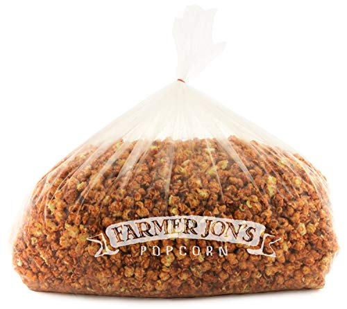 Best Bargain Farmer Jon's Popcorn Toffee Caramel Bash Bag, 400oz of Bulk Gourmet Popped Popcorn