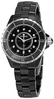 J12 Diamonds Black Ceramic Ladies Watch H1625