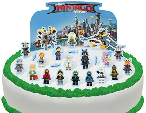 Toppershack 24 x decoración para pasteles comestibles PRECORTADAS de Lego Ninjago