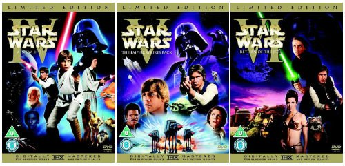 The Complete Star Wars Original Trilogy 4 - 6 DVD Movie Collection: Episode 4 - The New Hope / Episode 5 - The Empire Strikes Back / Episode 6 - Return of the Jedi