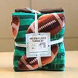 Super Football Anti-Pill No-Sew Throw Fleece Fabric Kit (50x60)
