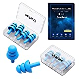 2021 New Version Ear Plugs, for Sleeping Noise Canceling, 8 Pairs Soft Reusable Silicone Earplugs, Great for Snoring, Travel, Concerts, Work, Studying, Loud Noise, Suitable for Adults & Kids