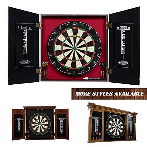 Barrington Bristle Dartboard Cabinet Set: Professional Hanging Classic Sisal Dartboard with Self...