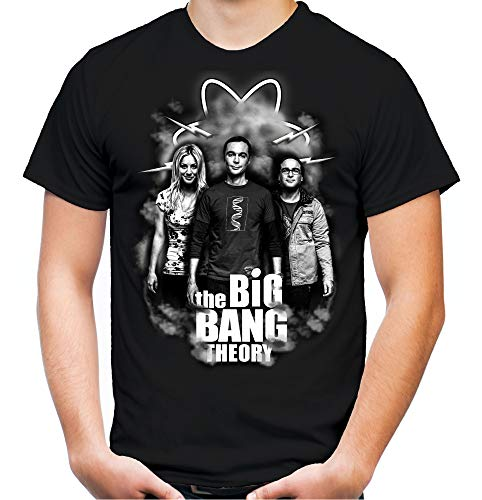 The Big Bang Theory Männer und Herren T-Shirt | Sheldon Bazinga Fun (S, Schwarz)