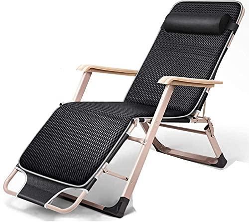 Reclinación reclinación plegable sillón sillón sillas de playa, silla de gravedad cero plegable patio reclinable ajustable anti gravedad salón sillón Patio plegable ajustable sillas reclinables césped