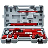 12 Ton Porta Power Kit 2M Hydraulic Car Jack Ram 5.3 inch Lifting Height Autobody Frame Repair Power Tools for Loadhandler Truck Bed Unloader Farm and Hydraulic Equipment Construction