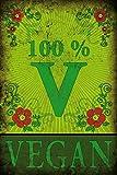 1art1 Kochkunst - 100% Vegan Selbstklebende Fototapete