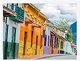 Óleo Digital Diy De Bricolaje Kit De Pintura Sala De 40X50Cm Calle Con Edificios En La Ciudad Vieja De La Candelaria En La Ciudad Colonial De Bogotá
