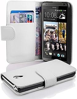 Fodral kompatibelt med HTC Desire 700 i MAGNESIUM VIT - Skyddsfodral av strukturerat syntetiskt Läder med Stativfunktion o...