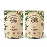ChocZero's Keto Bark, Dark Chocolate Coconuts with Sea Salt. Sugar Free, Low Carb. No Sugar Alcohols, No Artificial Sweeteners, All Natural, Non-GMO (2 bags, 6 servings/each)