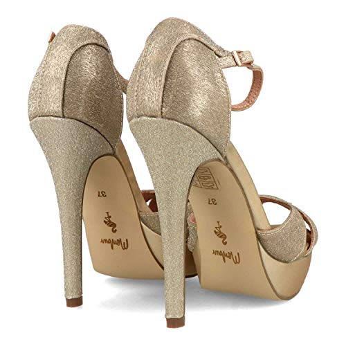 Menbur Volania Sandalen/Sandaletten Damen Goldfarben - 40 - Sandalen/Sandaletten Shoes