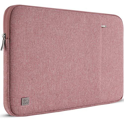 "DOMISO 14 Pulgada Funda para portátil Bolsa de Transporte para de 14"" Lenovo Chromebook S330/ThinkPad A475 A485 E485 T480s/HP ProBook 640 645 G4/DELL Inspiron 5480 5481 5482 5490 Chromebook 14, Rosa"