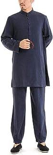 Mr. Hao Odzież męska odzież do jogi tai chi zestaw odzieży do medytacji kung fu kurtka z długim rękawem kostiumy koszula s...