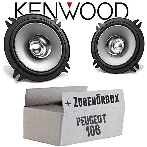 Lautsprecher Boxen Kenwood KFC-S1356-13cm Koax Auto Einbauzubehör - Einbauset für Peugeot 106 - JUST SOUND best choice for caraudio