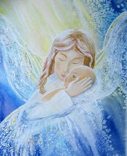 silwi-art***** Engelbilder Schutzengelbild Taufe Geburt Taufgeschenk Dein Baby ist beschützt
