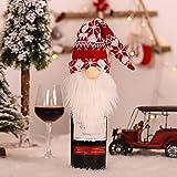 NMSLCNM Weihnachten Weinflasche Abdeckung, Rotwein Taschen für Dress up Weinflasche Wiederverwendbare Wein Geschenk Taschen, Weihnachten Dekoration Tischdekoration für Weihnachten Party (A)