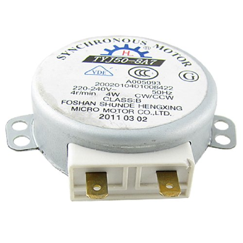 sourcing map Motor Sincrónico Giratorio para Horno de Microondas de 4W AC 220-240V 4RPM CW/CCW