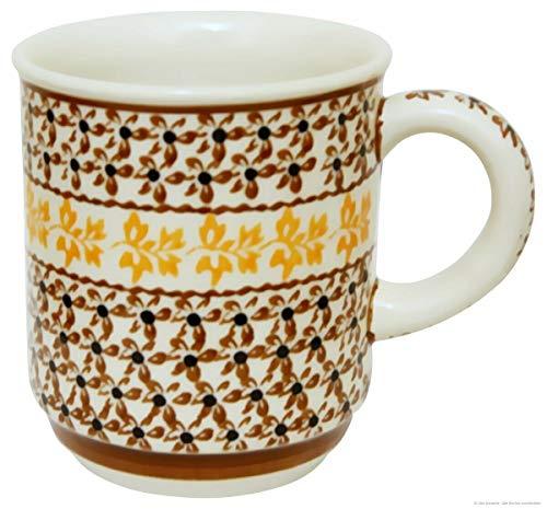 Original Bunzlauer Keramik Kaffeebecher mit Henkel 250ml Dekor 973