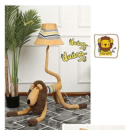 EIU leuke vloerlamp Cartoon Lion LED vloerlamp voor woonkamer slaapkamer baby-kamer staande lamp, creatief cadeau, 130cm M20-02-11