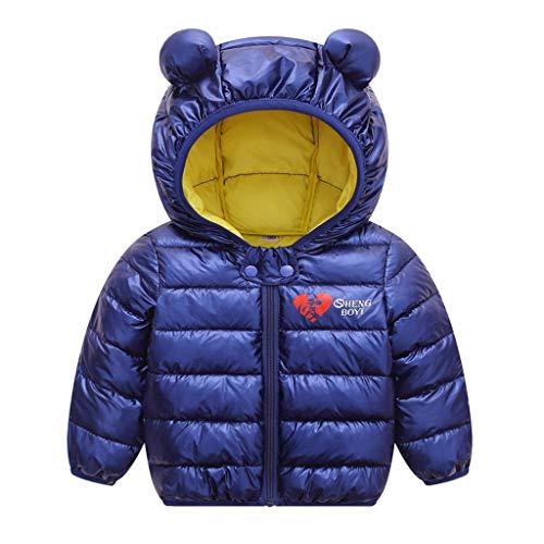 LEXUPE Baby Schneeanzug Jungen Strampler Mädchen Overall Winter Babykleidung(Blau,90)