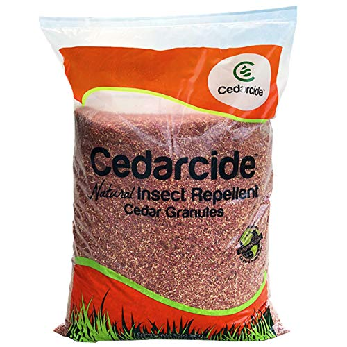 Cedarcide Granules (1 Bag) Insect Repelling Cedar Mulch Granules Repels Fleas, Ticks, Ants, Mites, Mosquitoes 8lb Bag Water Activated | Protect Your Lawn with a Cedar Barrier