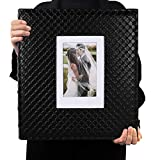 RECUTMS Photo Album 4x6 600 Photos Black Inner Page Button Grain Leather Big Capacity Pockets Pictures Album Birthday Christmas Photo Albums Wedding Anniversary (Black)