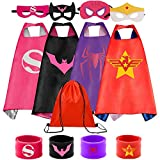 Superhero Capes Set and Wristbands Costumes Halloween Cosplay Dress Up(4PCS)