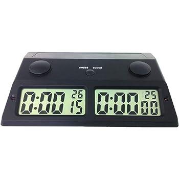 CFtrum Multifuncional Profesional Digital Reloj de Ajedrez, Contador de Tiempo / Temporizador de Cuenta Atrás / Cuenta Regresiva, Reloj Electrónico de Competición de Juegos de Mesa: Amazon.es: Hogar