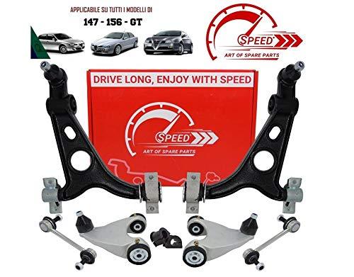 Kit de brazos de suspensión delantero original Speed by SMC 8 piezas brazos reforzados para mayor duración