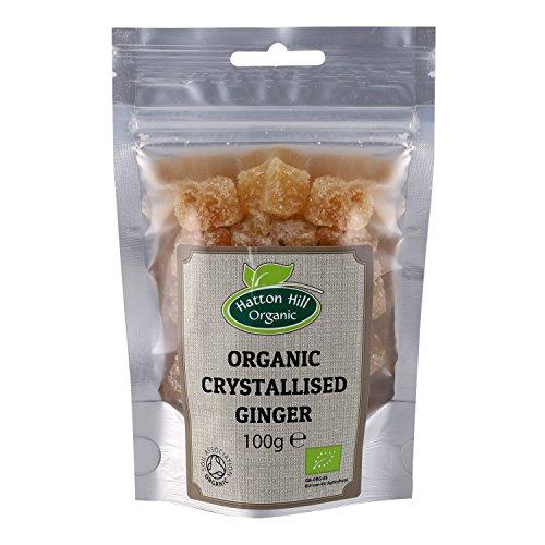 Bio kandierter und gezuckerte Ingwer Würfeln, Kristallisierter Ingwer 100g von Hatton Hill Organic – BIO zertifiziert