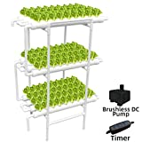 WEPLANT Hydroponic Growing System NFT with Timer Control, PVC Pipe 108...
