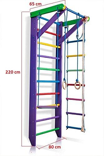 KindSport Escalera Sueca Barras de Pared Sport-2-220-Púrpura, Gimnasia de los niños en casa, Complejo Deportivo de Gimnasia: Amazon.es: Juguetes y juegos