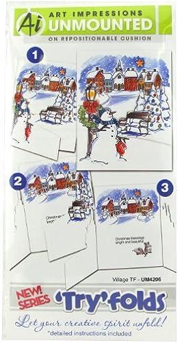 bienvenido a orden Art Impressions Impressions Impressions Impresiones de arte serie 4206 TryFolds Village TF Sello de goma por impresiones de arte  Entrega directa y rápida de fábrica