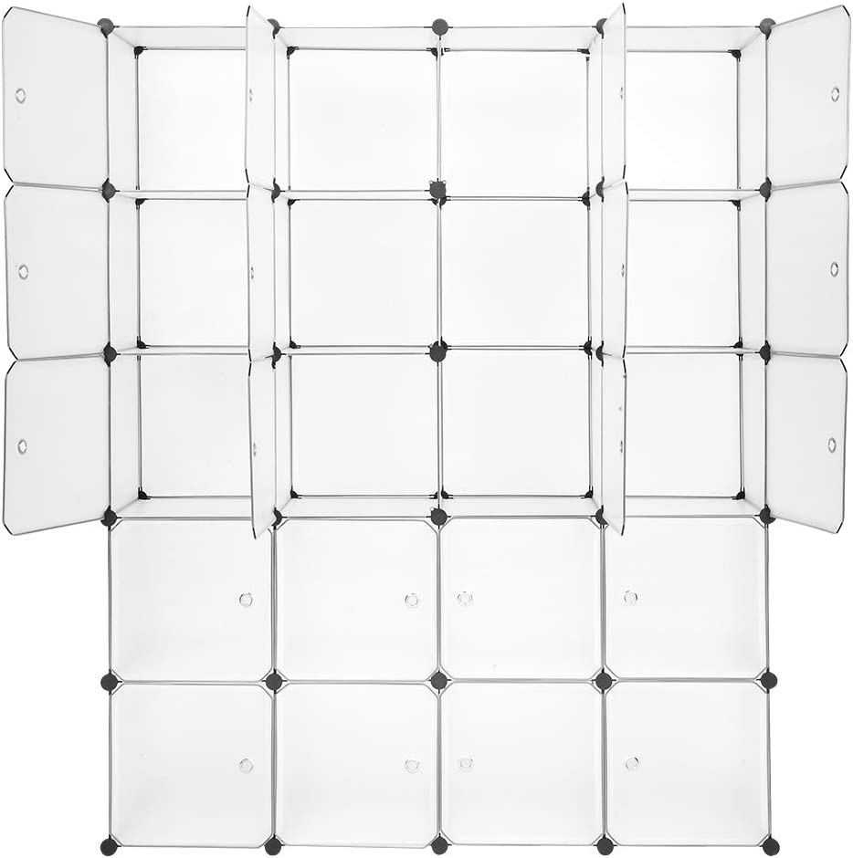 yeacher Max 63% OFF 20 Cube Organizer Stackable Shelves Plastic Max 86% OFF Storage
