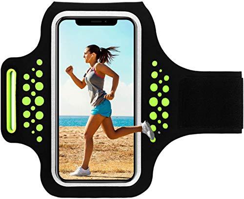 HAISSKY Schweißfest Sportarmband Handy Laufen Sport Handytasche Handyhalterung Mit Schlüsselhalter/Kabelfach/Kartenhalter für iPhone 12/11/11 Pro Max/XS/XR/X/8 Plus,Galaxy S9/S8,Huawei P10 Mate