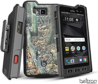 BELTRON Sonim XP8 Shell Case with Holster, Heavy Duty Belt Clip with Swivel Clip for Sonim XP8 (AT&T FirstNet Sprint XP8800) Features: Secure Fit & Built-in Kickstand (Camouflage)