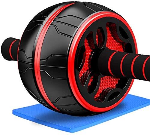 Yxs LCC Ab Roller Laufrad/Abdominal- Prüfverfahren, mit Rebound Seil + Knieschoner + Yoga-Matte + 2 Push-up Stand, abs Trainer, for Home Gym und Büro (Color : Red, Size : A)