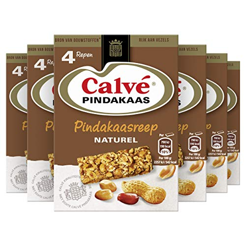 Calvé Naturel Snackreep, vezelrijke snackreep voor tussendoor – 6 x 4 repen – Voordeelverpakking