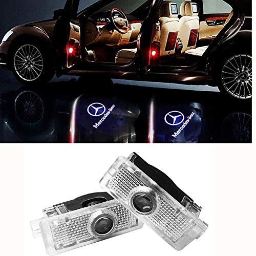 2 X Autotür LED Logo Projektion Licht Türbeleuchtung Willkommen Einstiegsbeleuchtung CLA CLK CLS (2PCS)