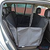 Deuline 520041 Hunde Autoschondecke mit Seitenschutz Kofferraumdecke Auto Schutzdecke Rücksitzdecke Seitenschutz robuste Hundedecke 160x140CM mit Sicherheitsgurt Wasserdicht Oxford Autodecke